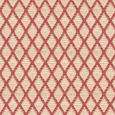 White/Burgundy/Red Diamond Drapery and Upholstery Fabric by Kravet