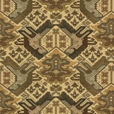 Beige/Brown/Grey Ikat Drapery and Upholstery Fabric by Kravet