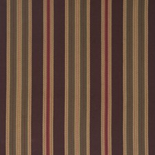 Chocolate Cherry Stripes Drapery and Upholstery Fabric by Fabricut