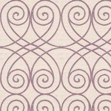 White/Purple Lattice Drapery and Upholstery Fabric by Kravet