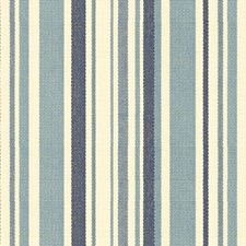 White/Blue/Light Blue Stripes Drapery and Upholstery Fabric by Kravet