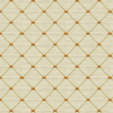 Beige/Orange Diamond Drapery and Upholstery Fabric by Kravet