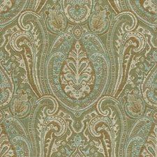 Beige/Light Green/Light Blue Ethnic Drapery and Upholstery Fabric by Kravet