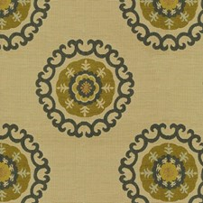 Beige/Green/Blue Ethnic Drapery and Upholstery Fabric by Kravet
