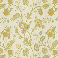 White/Yellow/Blue Lattice Drapery and Upholstery Fabric by Kravet