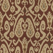 Burgundy/Red/Beige Ikat Drapery and Upholstery Fabric by Kravet