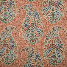 Fired Clay Paisley Drapery and Upholstery Fabric by Fabricut