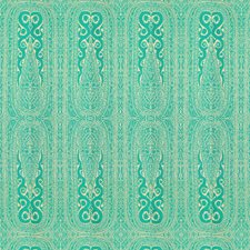 Turq Paisley Drapery and Upholstery Fabric by Kravet