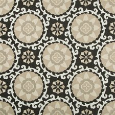 Coal Botanical Drapery and Upholstery Fabric by Kravet