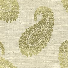 Citron Paisley Drapery and Upholstery Fabric by Kravet