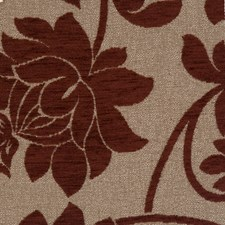 Burgundy Floral Drapery and Upholstery Fabric by Fabricut