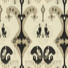 Black/Grey/Beige Ikat Drapery and Upholstery Fabric by Kravet