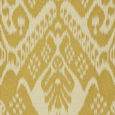 White/Yellow Ikat Drapery and Upholstery Fabric by Kravet