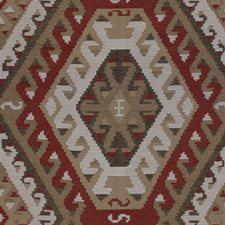 Sundried Red Ikat Drapery and Upholstery Fabric by Kravet