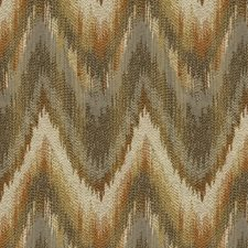 Brown/Orange/Grey Ikat Drapery and Upholstery Fabric by Kravet