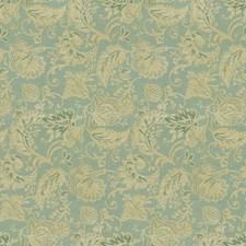 Light Blue/Beige Jacobeans Drapery and Upholstery Fabric by Kravet