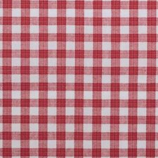 Raspberry Plaid Drapery and Upholstery Fabric by Duralee