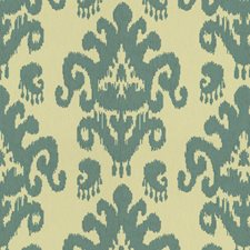 White/Blue Ikat Drapery and Upholstery Fabric by Kravet