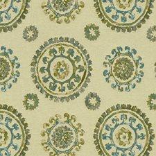 Beige/Blue/Green Modern Drapery and Upholstery Fabric by Kravet