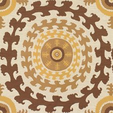 White/Yellow/Brown Modern Drapery and Upholstery Fabric by Kravet