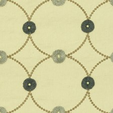 White/Brown/Blue Contemporary Drapery and Upholstery Fabric by Kravet