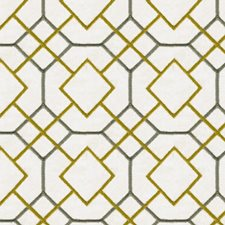Chartreuse Geometric Drapery and Upholstery Fabric by Kravet