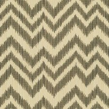 White/Grey/Black Ikat Drapery and Upholstery Fabric by Kravet