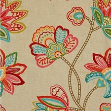 Summertime Botanical Drapery and Upholstery Fabric by Kravet