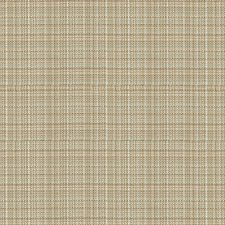 Beige/Light Blue/Brown Plaid Drapery and Upholstery Fabric by Kravet