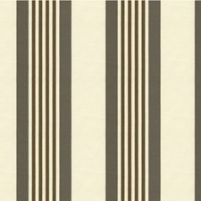 Brown/Grey/Ivory Stripes Drapery and Upholstery Fabric by Kravet