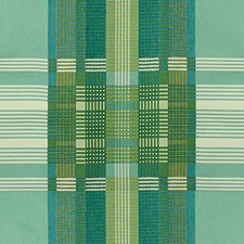 Blue/Green/White Plaid Drapery and Upholstery Fabric by Kravet