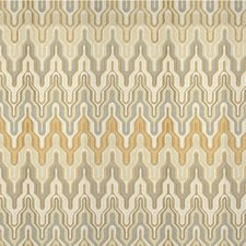 Champagne Flamestitch Drapery and Upholstery Fabric by Kravet