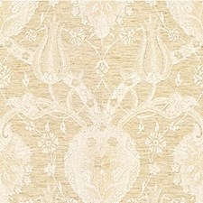 White Gold Jacobeans Drapery and Upholstery Fabric by Kravet