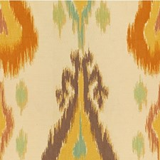 Ivory/Orange/Purple Ethnic Drapery and Upholstery Fabric by Kravet