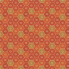Persimmon Geometric Drapery and Upholstery Fabric by Kravet