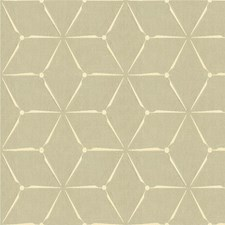 Pearl Grey Geometric Drapery and Upholstery Fabric by Kravet