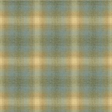Silver Blue Plaid Drapery and Upholstery Fabric by Kravet
