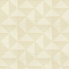 Champagne Geometric Drapery and Upholstery Fabric by Kravet