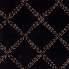 Ebony Embroidery Drapery and Upholstery Fabric by Fabricut