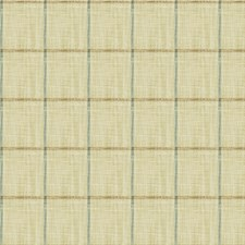 Beige/Light Blue/Taupe Check Drapery and Upholstery Fabric by Kravet