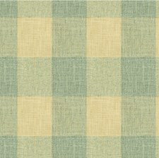 Light Blue/Ivory Check Drapery and Upholstery Fabric by Kravet