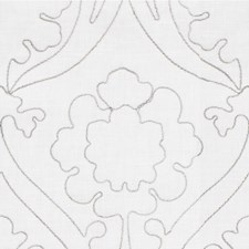 Ivory Damask Drapery and Upholstery Fabric by Kravet