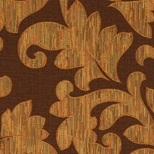 Mahogany Scrollwork Drapery and Upholstery Fabric by Fabricut