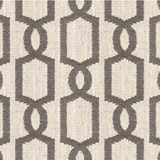 Beige/Charcoal Geometric Drapery and Upholstery Fabric by Kravet