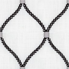 White/Black/Grey Geometric Drapery and Upholstery Fabric by Kravet