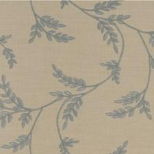 Light Blue/Beige Botanical Drapery and Upholstery Fabric by Kravet
