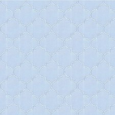 Light Blue Geometric Drapery and Upholstery Fabric by Kravet