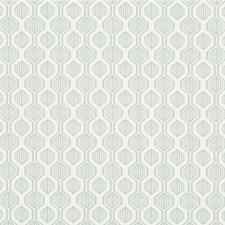 Light Blue/Ivory Geometric Drapery and Upholstery Fabric by Kravet