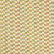 Light Green/Coral/Turquoise Stripes Drapery and Upholstery Fabric by Kravet