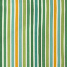 Green/Turquoise/Yellow Stripes Drapery and Upholstery Fabric by Kravet